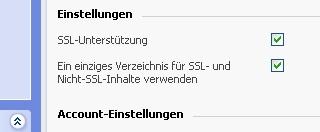 SSL Einstellungen